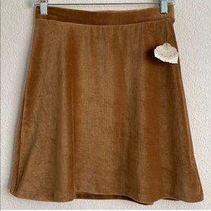 Altar'd State Pull On Corduroy Mini Skirt